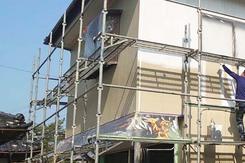 外壁塗装 鹿嶋市サイディングボード壁塗装(下塗り)