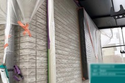 外壁塗装 東海村サイディングボード壁塗装(洗浄、養生)