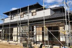外壁屋根塗装 常陸大宮市モルタル壁塗装(上塗り~完工)