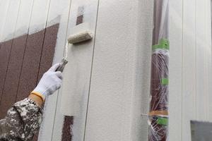 外壁塗装 稲敷市トタン壁塗装(下地調整~下塗り)
