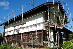 屋根塗装 矢祭町トタン壁塗装(施工前)