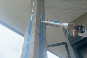 外壁塗装 水戸市 サイディングボード壁塗装(下地調整)