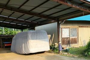 屋根塗装 矢祭町トタン壁塗装(洗浄、養生、付帯設備)