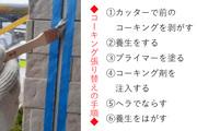 コーキング補修 銚子市サイディングボード壁(後半)