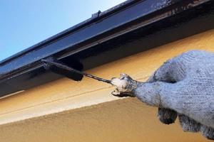 外壁屋根塗装 坂東市モルタル壁塗装(付帯設備)