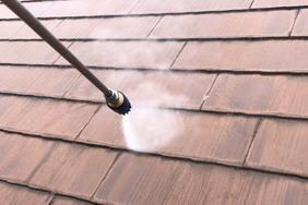 外壁屋根塗装 那須烏山市サイディングボード(足場、洗浄)