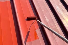 屋根塗装 矢祭町トタン壁塗装(洗浄~塗り)
