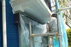 外壁塗装 結城市 サイディングボード壁塗装(付帯設備)