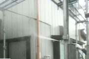 外壁塗装 坂東市 トタン壁塗装(足場、洗浄)