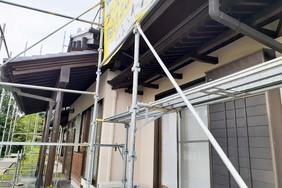 外壁・付帯設備塗装 那珂川町 モルタル壁(完工)