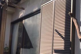 外壁屋根塗装 あきる野市 モルタル壁塗装(施工前)