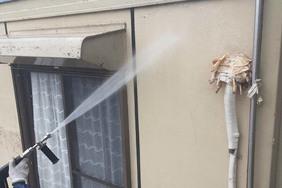 外壁屋根塗装 茨城町サイディングボード壁(足場、洗浄)