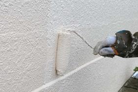 外壁屋根塗装 あきる野市 モルタル壁塗装(塀の塗り)