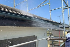 屋根塗装 稲敷市スレート屋根塗装(足場・洗浄)