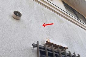 外壁屋根塗装 鹿嶋市 モルタル壁塗装(施工前)