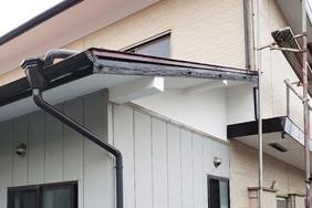 屋根塗装・外壁張り替え 塙町トタン屋根塗装(壁張り替え)