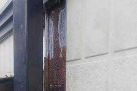 外壁屋根塗装 大田原市サイディングボード壁塗装(施工前)