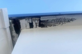 外壁塗装 日立市サイディングボード壁塗装(施工前)