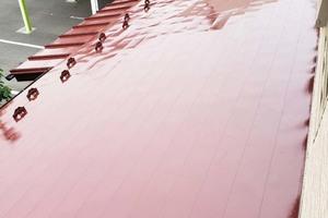 屋根塗装・外壁張り替え 塙町トタン屋根塗装(庇)
