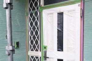 外壁屋根塗装 筑西市 サイディングボード壁塗装(養生)