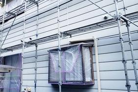 外壁塗装 那須烏山市サイディングボード壁(足場)