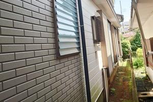 外壁塗装 阿見町 サイディングボード壁(施工前)