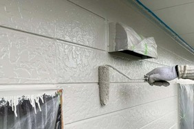 外壁塗装 いわき市サイディングボード壁塗装(塗り)