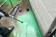 外壁塗装 阿見町 サイディングボード壁(足場、洗浄)