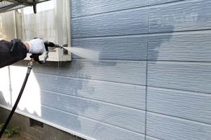外壁塗装 北茨城サイディングボード壁(施工前)