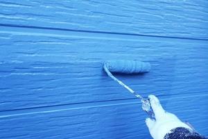 外壁塗装 北茨城サイディングボード壁(壁の塗り)