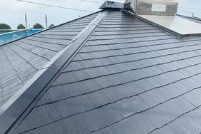 外壁屋根塗装 銚子市コロニアル屋根(屋根の塗り)
