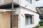 外壁屋根塗装 水戸市サイディングボード(施工前)