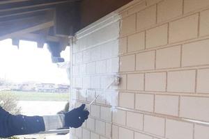 外壁塗装 古河市サイディングボード壁(洗浄~下塗り)